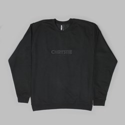 CHRYSTIE NYC OG LOGO CREWNECK BLACK