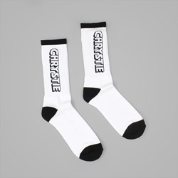 CHRYSTIE NYC OG LOGO SOCKS WHITE