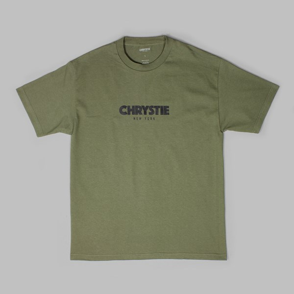 CHRYSTIE NYC OG LOGO SS T-SHIRT MILITARY GREEN