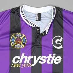 CHRYSTIE NYC TEAM SOCCER JERSEY BLACK PURPLE