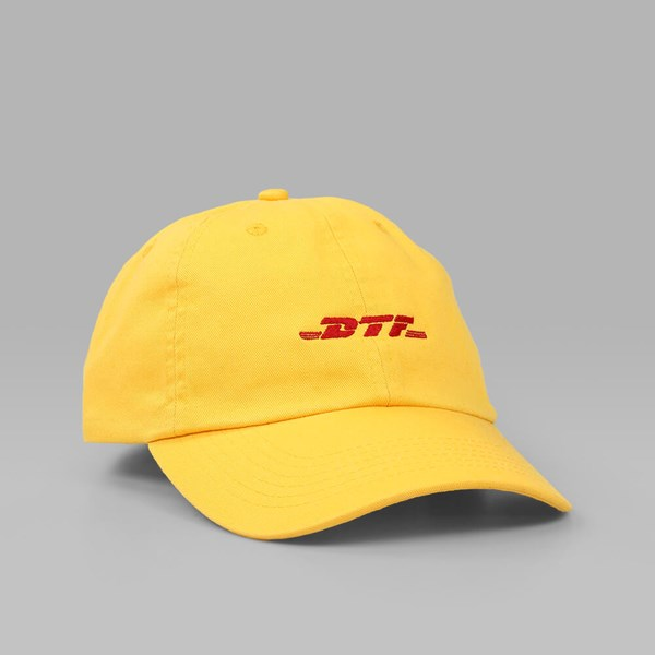 CIGARETTE BRAND DTF WORLDWIDE DAD HAT YELLOW