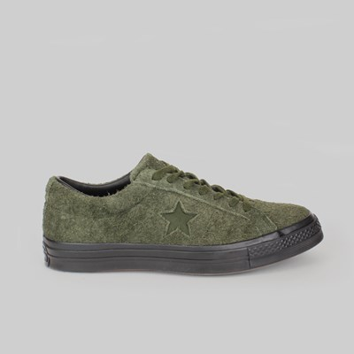 CONVERSE ONE STAR OX STUSSY UTILITY GREEN BLACK