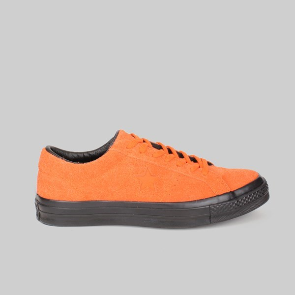 CONVERSE ONE STAR OX STUSSY ORANGE TIGER BLACK