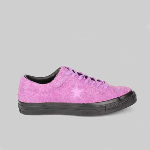 CONVERSE ONE STAR OX STUSSY FUCHIA GLOW BLACK