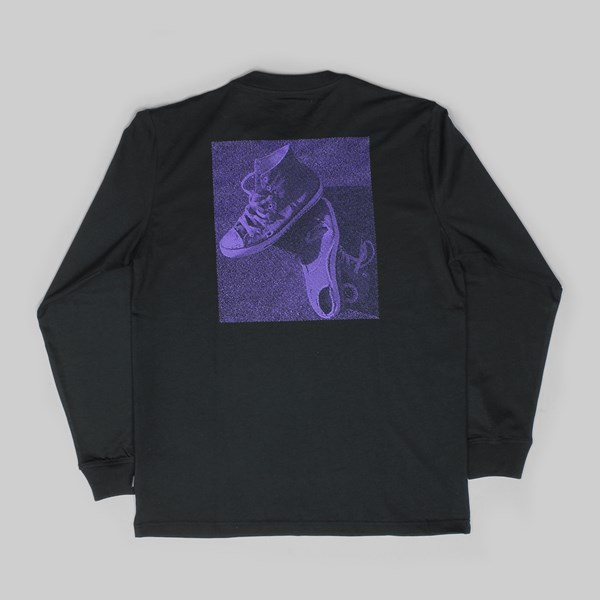 CONVERSE CONS PURPLE LONG SLEEVE T-SHIRT BLACK