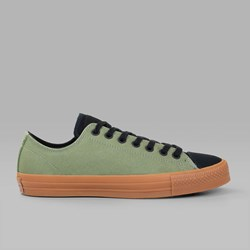 CONVERSE CTAS PRO LO SUEDE BACKED FATIGUE GREEN