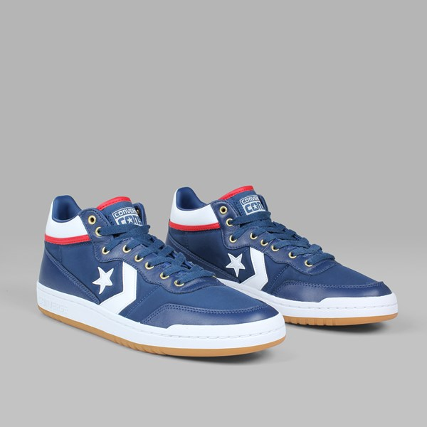 CONVERSE FASTBREAK PRO MID NAVY WHITE ENAMEL RED