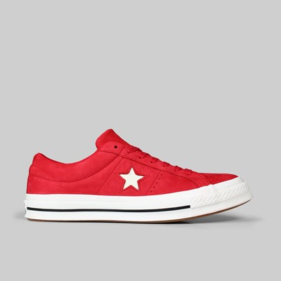 CONVERSE ONE STAR OX CHERRY RED VINTAGE WHITE