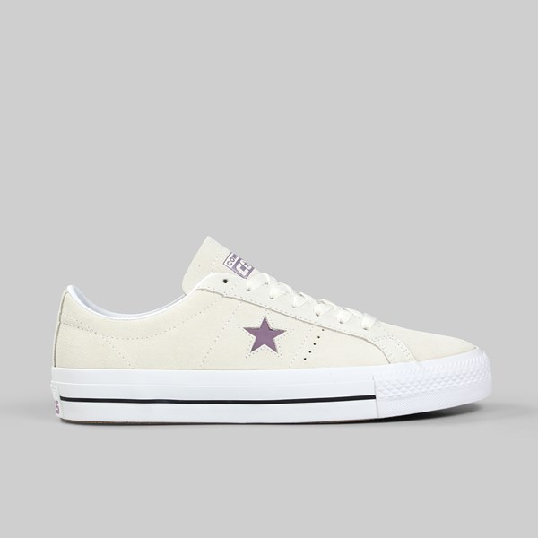 CONVERSE ONE STAR PRO OX EGRET VIOLET DUST WHITE