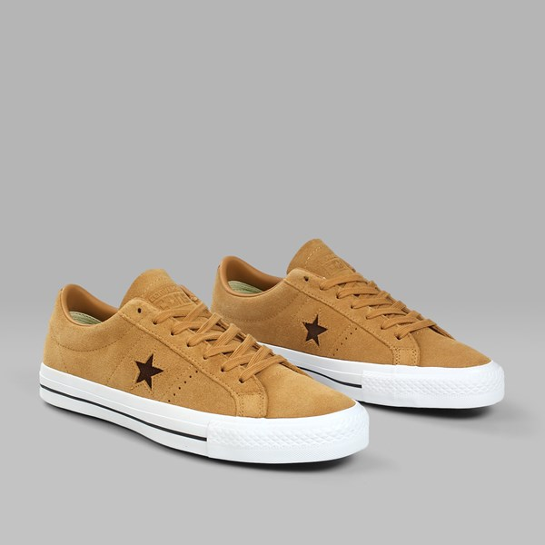 CONVERSE ONE STAR PRO OX RAW SUGAR DARK CLOVE