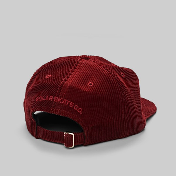 d239abd520b POLAR SKATE CO. CORDUROY CAP RED