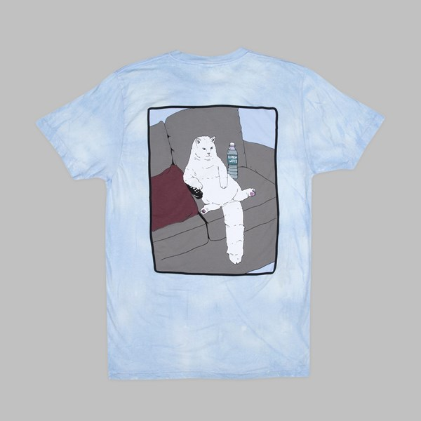 RIP N DIP COUCH POTATO SS T-SHIRT BLUE MINERAL WASH