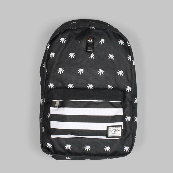 C&S Stripes Downtown Backpack Black White