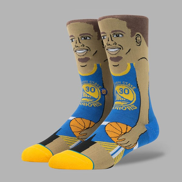 STANCE NBA LEGENDS S. CURRY SOCKS BLUE