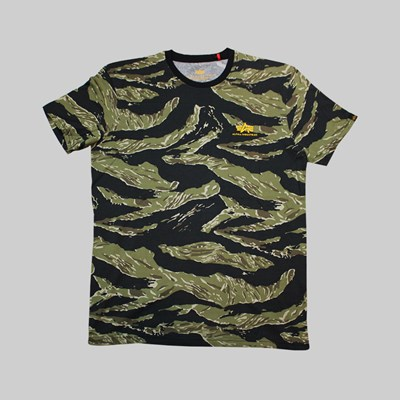ALPHA INDUSTRIES TIGER CAMO T447 T-SHIRT CAMO