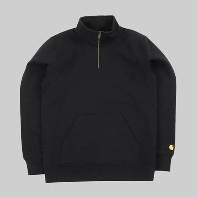 CARHARTT CHASE NECK ZIP SWEAT BLACK GOLD
