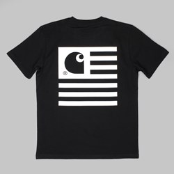 Carhartt State T Shirt Black-White