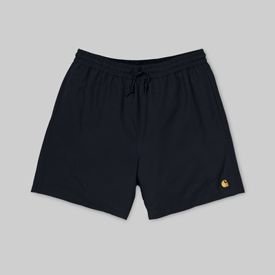 CARHARTT CHASE SWIM SHORTS BLACK GOLD