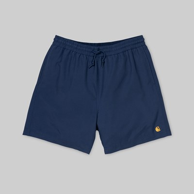 CARHARTT CHASE SWIM SHORTS METRO BLUE GOLD