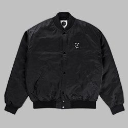 POLAR SKATE CO. COLLEGE JACKET BLACK
