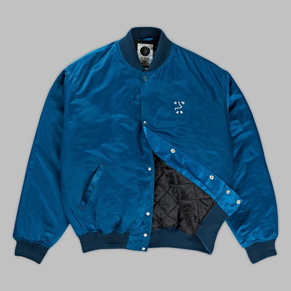 POLAR SKATE CO. COLLEGE JACKET PETROL BLUE