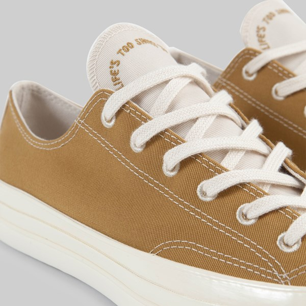 CONVERSE CHUCK 70 OX 'RENEW' WHEAT NATURAL BLACK