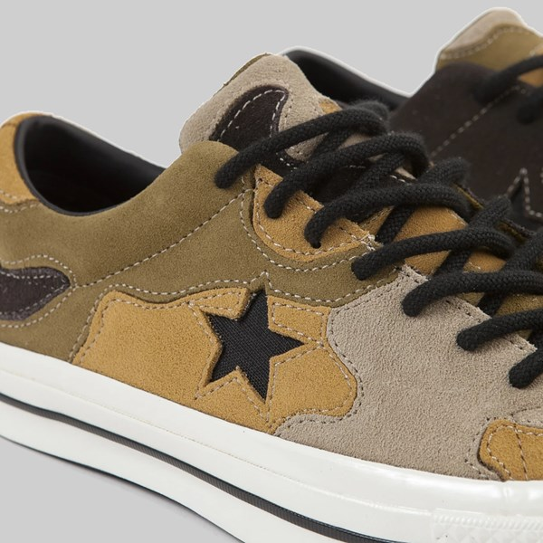 CONVERSE ONE STAR CAMO SUEDE BLACK OLIVE FLAK