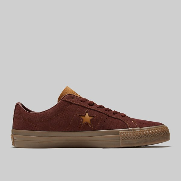 CONVERSE ONE STAR PRO OX BARKROOT BROWN ALE