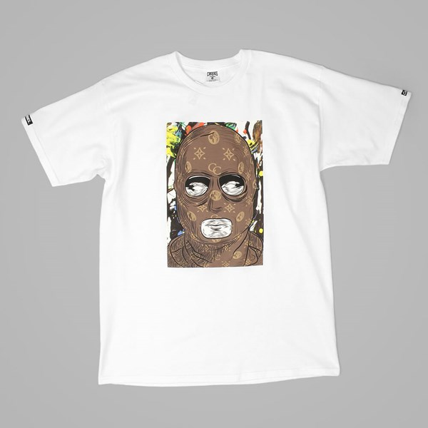 Crooks & Castles Abstract Bandit T Shirt White