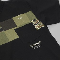 Crooks & Castles Commando Pocket T Shirt Black
