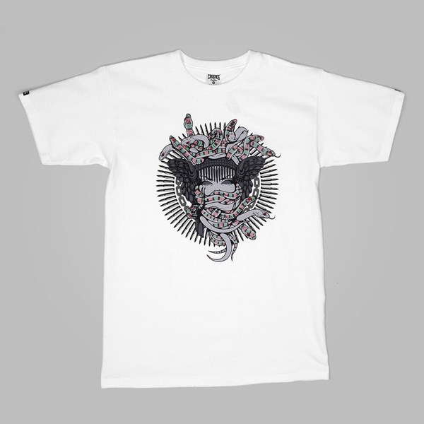 Crooks & Castles Interlaced Medusa T Shirt White