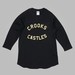 Crooks & Castles Mudville 3/4 Baseball Raglan Black