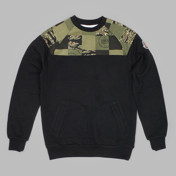 Crooks & Castles Soldier Of Fortune Crewneck Black