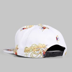 Crooks & Castles Hail Mary Snapback Cap White