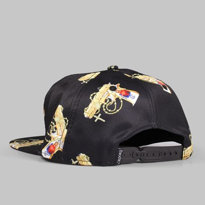 Crooks & Castles Hail Mary Snapback Cap Black