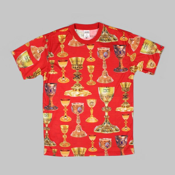 Crooks & Castles High Power T Shirt Red Multi