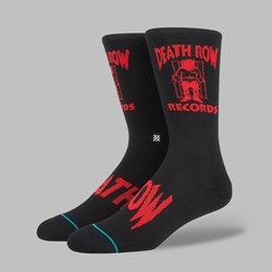 STANCE X SNOOP DOGG 'DEATH ROW' SOCKS BLACK