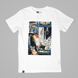 DEDICATED STAR WARS BOUNTY CRANE T SHIRT WHITE