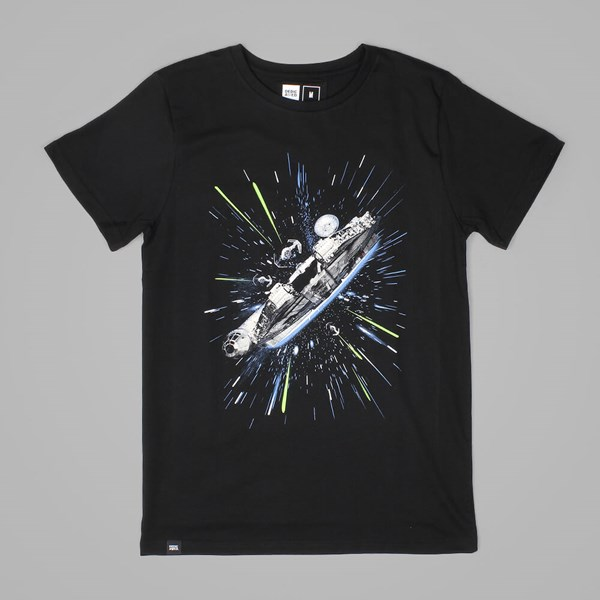 DEDICATED STAR WARS MILLENNIUM FALCON T SHIRT BLACK