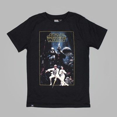 DEDICATED X STAR WARS NEW HOPE TEE BLACK