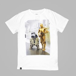 DEDICATED X STAR WARS R2D2 C3PO TEE WHITE