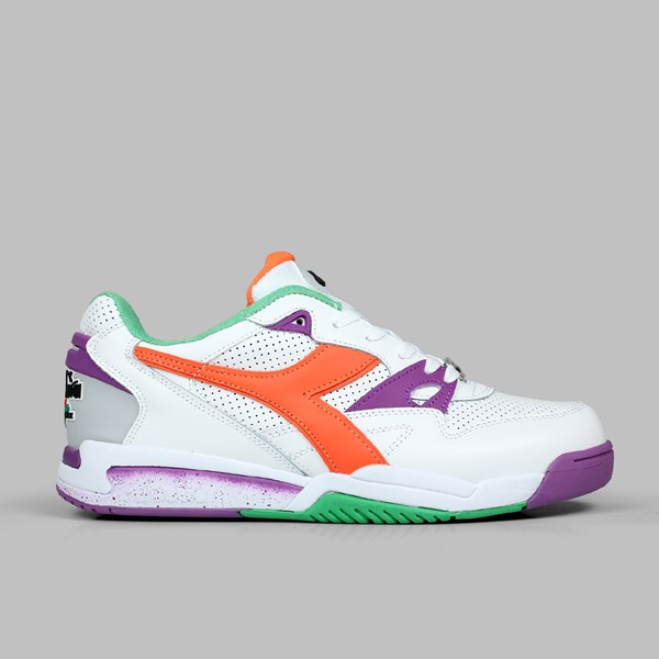 DIADORA REBOUND ACE WHITE VERMILLION ORANGE