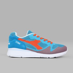 DIADORA V7000 WEAVE CYAN BLUE VERMILLION ORANGE