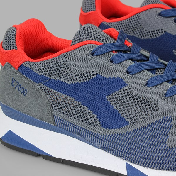 DIADORA V7000 WEAVE STEEL GRAY ESTATE BLUE