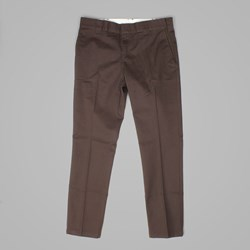 DICKIES 872 SLIM FIT WORK PANT CHOCOLATE BROWN