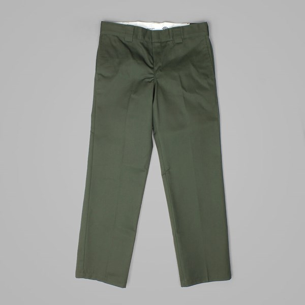 DICKIES 873 SLIM FIT WORK PANT OLIVE GREEN