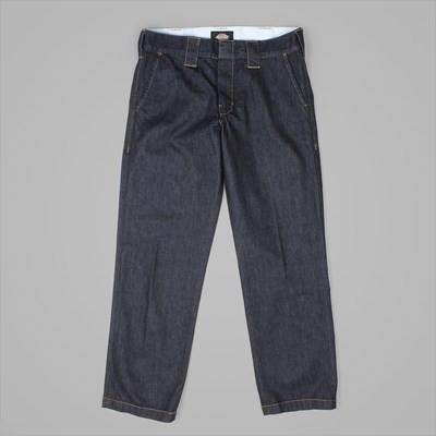 DICKIES 873 WORK PANT DENIM RINSED