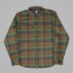DICKIES COOPERSTOWN LS SHIRT GREEN