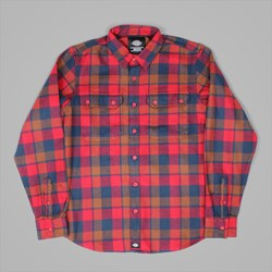 DICKIES COOPERSTOWN LS SHIRT RED