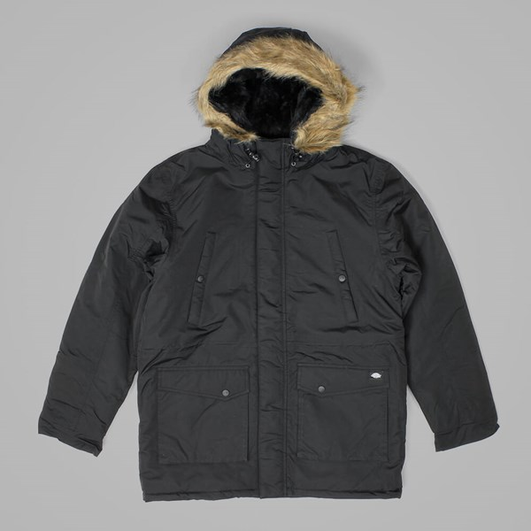 DICKIES CURTIS PARKA JACKET BLACK